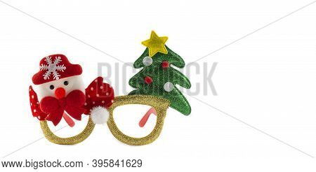 Holiday Christmas Background. Christmas Background. Christmas Card Background. Christmas Glasses Wit