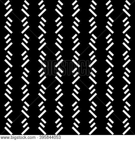 Seamless Pattern. Angled Stripes Motif. Tilted Strokes Wallpaper. Linear Ornament. Slanted Dashes Im