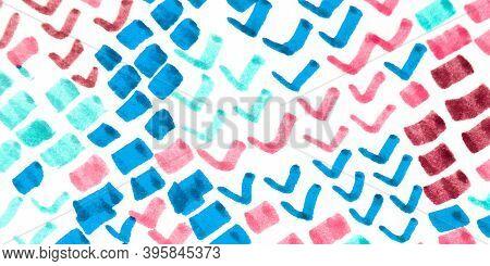 Cobra Pattern. Pink, Blue And White. Anaconda Leather Animal Print. Handdrawn Artistic Fabric Orname