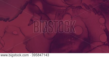 Red Wine Splash. Watercolour Winery Texture. Graphic Alcohol Banner. Dark Winery Pattern. Color Wine