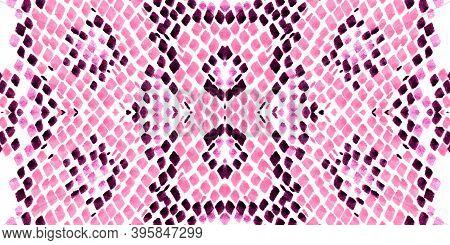 Seamless Predator Pattern. Pink And White Rapport. Jungle Exotic Wallpaper. Reptile Leather Wild Pri