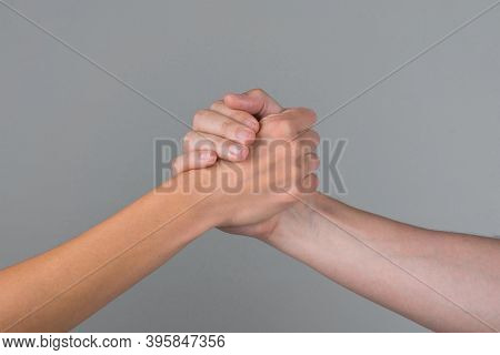 Support. Solidarity, Compassion, And Charity. Helping Hand. Two Hands. Support In Relationships. Car