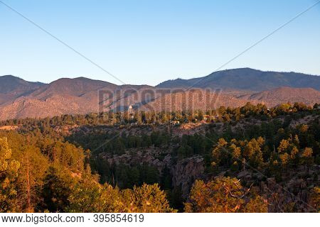 The Jemez Mountains At Sunrise Photographed From The North Mesa In Los Alamos, New Mexico With A Sec