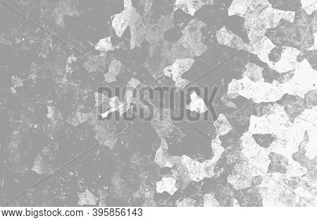 Grey Army Background. Watercolor Camouflage Texture. Military Textile. Vintage War Illustration. Arm