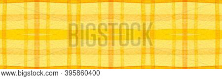 Red Tartan Background. Watercolour Picnic Border. Man Traditional Stripes For Tile Design. Seamless