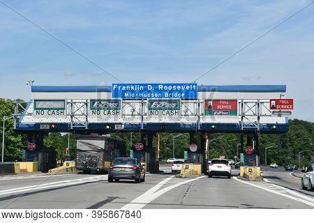 Poughkeepsie, Ny - Jul 26: Franklin Roosevelt Mid-hudson Bridge In Poughkeepsie, New York, As Seen O