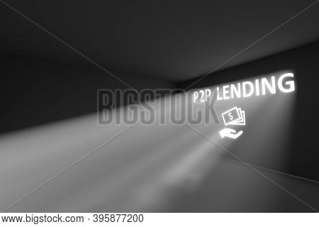 P2p Lending Rays Volume Light Concept 3d Illustration