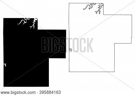 Creek County, Oklahoma State (U.S. county, United States of America, USA, U.S., US) map vector illustration, scribble sketch Creek map