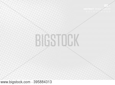 Abstract White And Gray Dot Design Of Pattern Design Artwork Template Background. Use For Ad, Poster