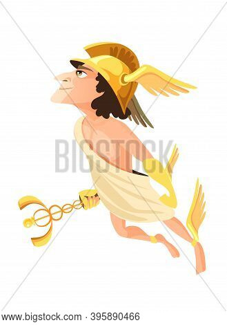 Hermes Or Mercury - Deity Of Trade, Commerce And Merchants Of Greek And Roman Pantheon, Messenger Of