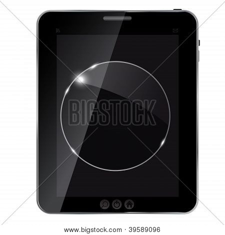 abstract tablet with glass framework. Vector illustration.
