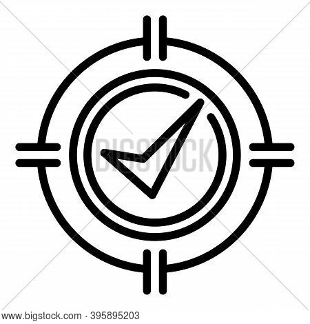 Mentor Target Icon. Outline Mentor Target Vector Icon For Web Design Isolated On White Background