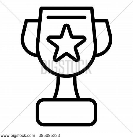 Mentor Win Cup Icon. Outline Mentor Win Cup Vector Icon For Web Design Isolated On White Background