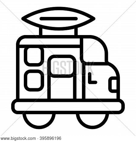 Motorhome Icon. Outline Motorhome Vector Icon For Web Design Isolated On White Background