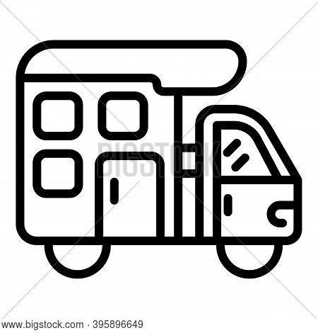 Recreation Camp Trailer Icon. Outline Recreation Camp Trailer Vector Icon For Web Design Isolated On
