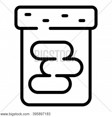 Chocolate Paste Bottle Icon. Outline Chocolate Paste Bottle Vector Icon For Web Design Isolated On W