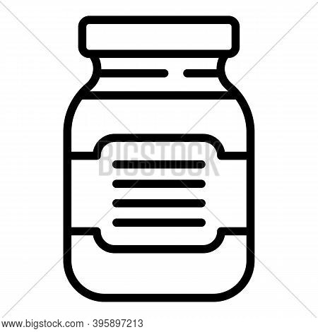 Chocolate Paste Jar Icon. Outline Chocolate Paste Jar Vector Icon For Web Design Isolated On White B