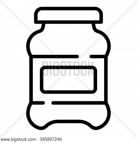 Chocolate Milk Paste Icon. Outline Chocolate Milk Paste Vector Icon For Web Design Isolated On White
