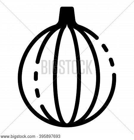 Raw Fig Icon. Outline Raw Fig Vector Icon For Web Design Isolated On White Background