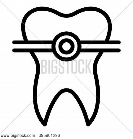 Alignment Tooth Icon. Outline Alignment Tooth Vector Icon For Web Design Isolated On White Backgroun