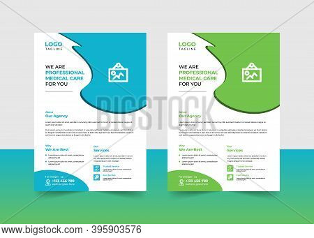 Corporate Business Flyer Health Medical Care - Brochure Template, Clean Business Flyer Template, Hea