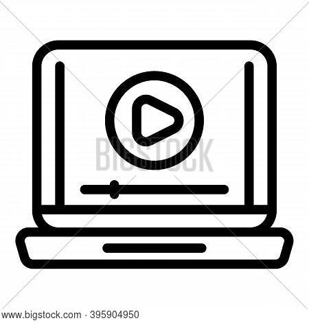 Video Course Icon. Outline Video Course Vector Icon For Web Design Isolated On White Background