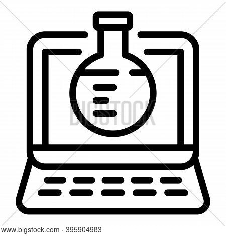 Online Chemistry Icon. Outline Online Chemistry Vector Icon For Web Design Isolated On White Backgro