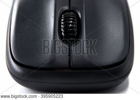Wireless Mouse Close-up. Mouse Is A Computer Peripheral Device