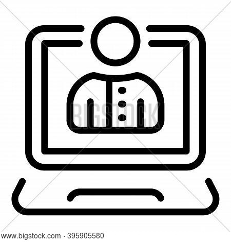 Video Lesson Icon. Outline Video Lesson Vector Icon For Web Design Isolated On White Background