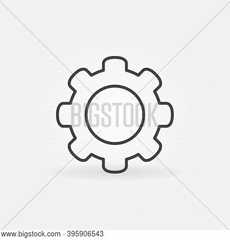 Cog Wheel Vector Concept Simple Icon Or Symbol In Thin Line Style