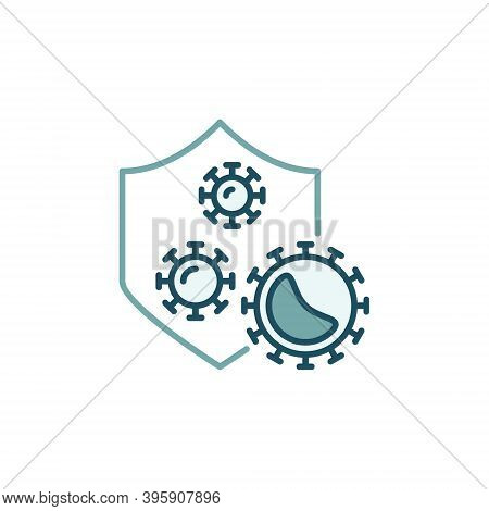 Antibacterial Defence Vector Concept Colored Icon Or Sign