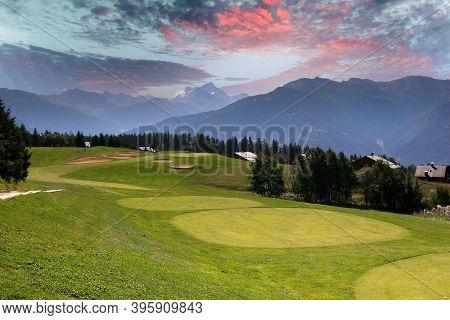 Mountain Golf Course In Crans-montana