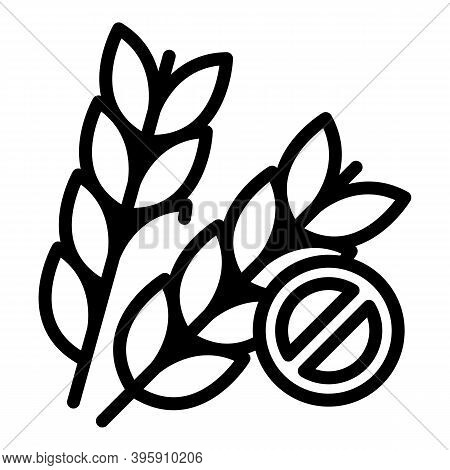 Gluten Free Icon. Outline Gluten Free Vector Icon For Web Design Isolated On White Background