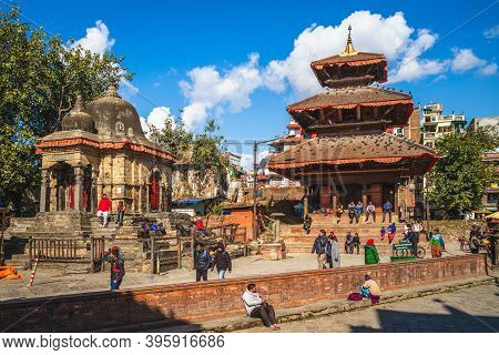 January 5, 2020: Kathmandu Durbar Square, In Front Of The Old Royal Palace Of The Former Kathmandu K