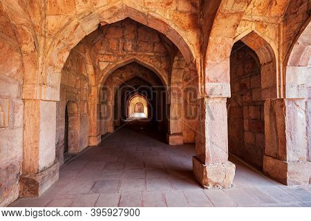 Arches Of Royal Enclave Ruins In Mandu Ancient City In Madhya Pradesh State Of India