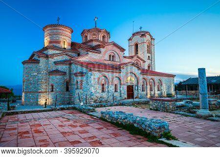 Church Of Saints Clement And Panteleimon Or Crkva Sveti Kliment Pantelejmon In Ohrid City, North Mac