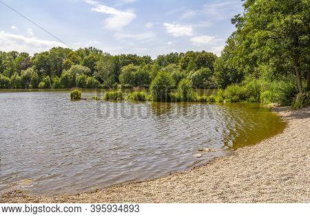 Idyllic Waterside Scenery Around Wiesenfelden In The Bavarian Forest At Summer Time