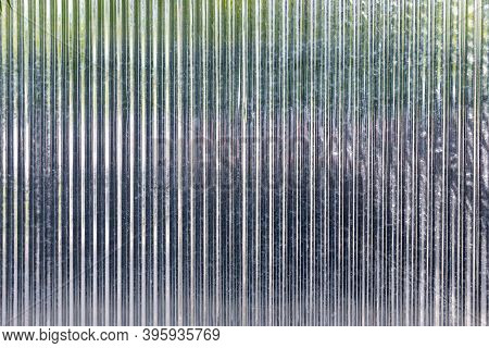 New Corrugated Metal Or Zinc Texture Background. Zinc Wall Background . White Corrugated Metal Wall