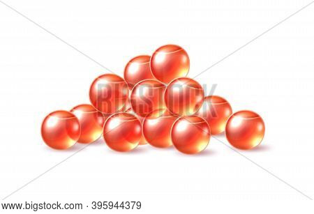 Vector 3d Red Caviar Delicacy Food For Restaurant