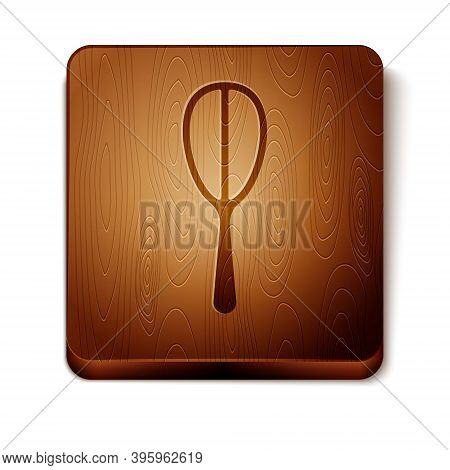 Brown Kitchen Whisk Icon Isolated On White Background. Cooking Utensil, Egg Beater. Cutlery Sign. Fo