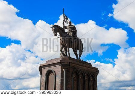 Monument To Grand Prince Vladimir And Saint Fedor In Vladimir City, Golden Ring Of Russia