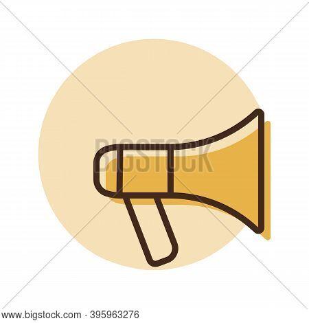 Megaphone Or Loudspeaker Vector Icon. Demonstration, Manifestation, Protest, Strike, Revolution. Gra