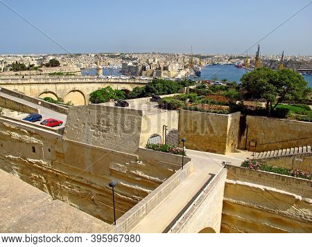Valletta, Malta - 18 Jul 2011: The Fortress In Valletta, Malta