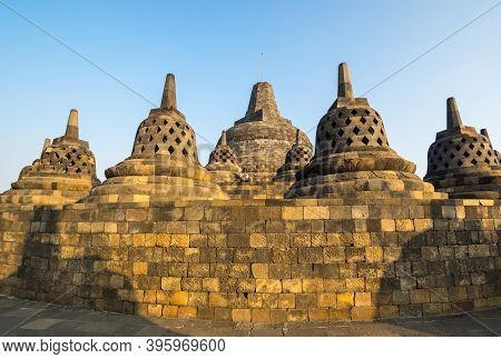 Java, Indonesia - 09 September 2018: Borobudur Is 9th-century Mahayana Buddhist Temple In Central Ja
