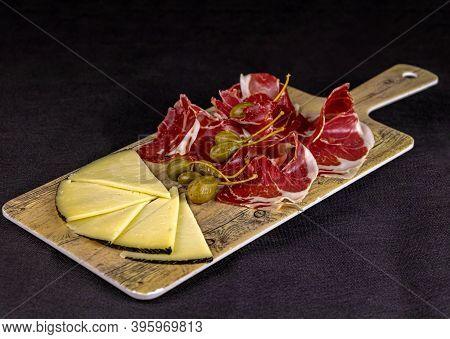 Food - Iberian Ham And Manchego Cheese Board