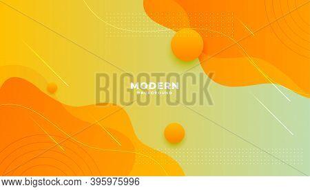 Yellow Orange Fluid Gradient Style Modern Background Design