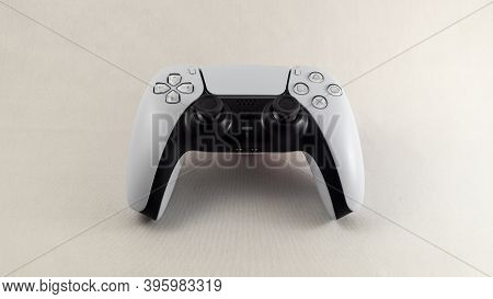 Istanbul, Turkey - November 2019: Ps5 Dual Sense Controller From Sony Is A New Joypad With Adaptive