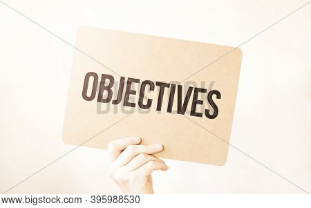 Closeup Business Man Hand Holding Show Blank Paper Sheet Mock Up Empty White Board Space For Shoutin