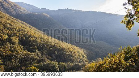 Garganta De Los Infiernos Natural Reserve Valley. Outstanding Place In Caceres Province, Extremadura