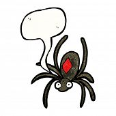 poisonous spider cartoon poster